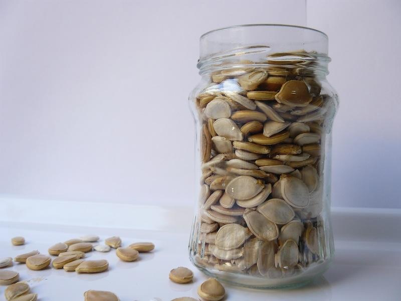 sementes abóbora no forno