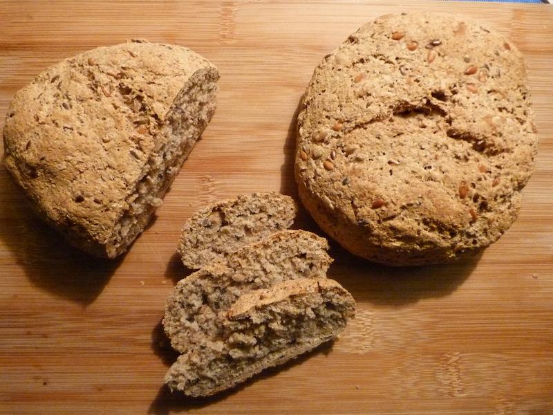 Pão de três cereais