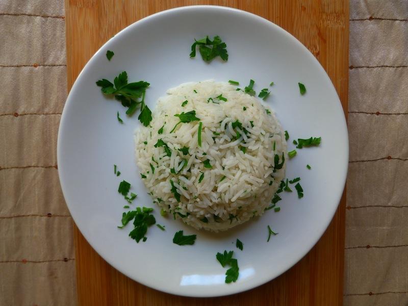 arroz basmati com salsa