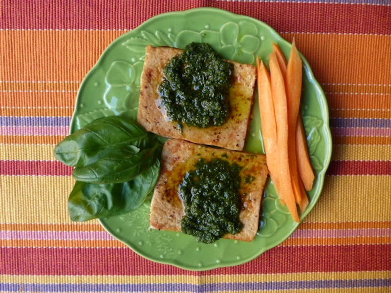 bife tofu com molho ervas