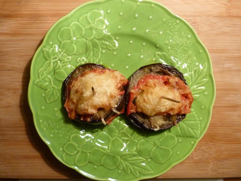 Beringela com tomate no forno