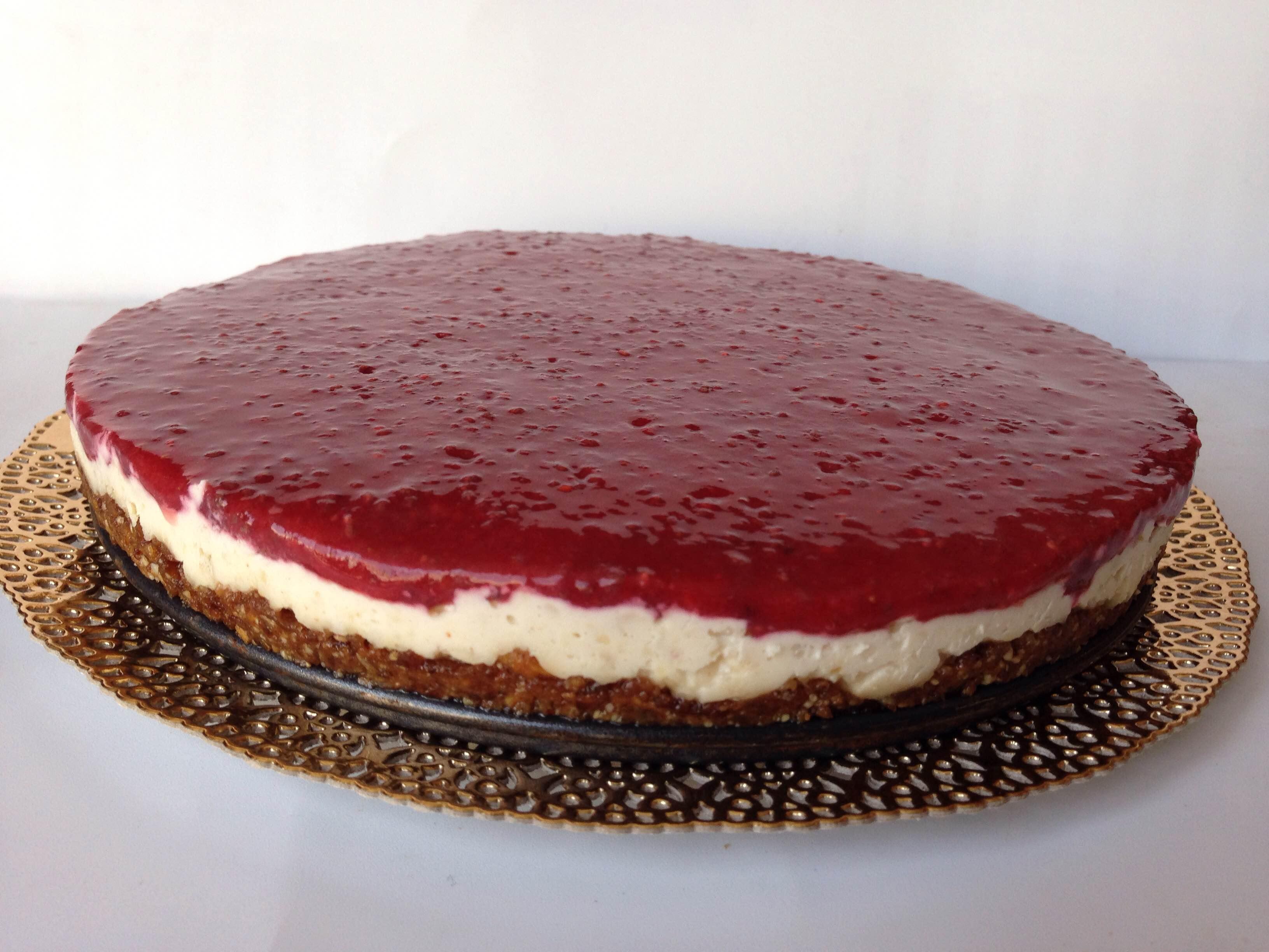 Vegan cheesecake de caju, côco e lima