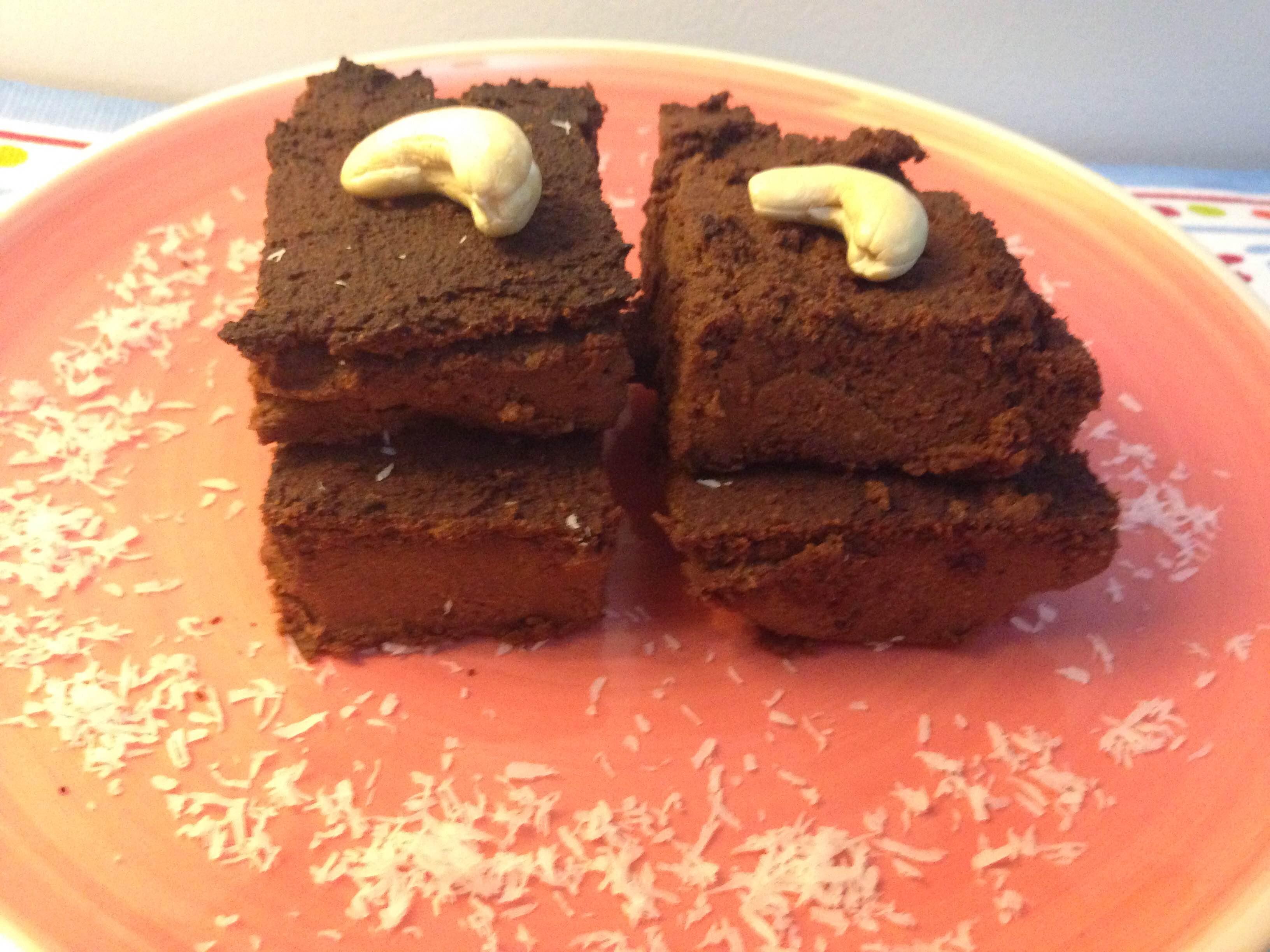 Brownie de chocolate e batata-doce